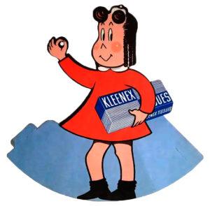 Antiguo anuncio de kleenex