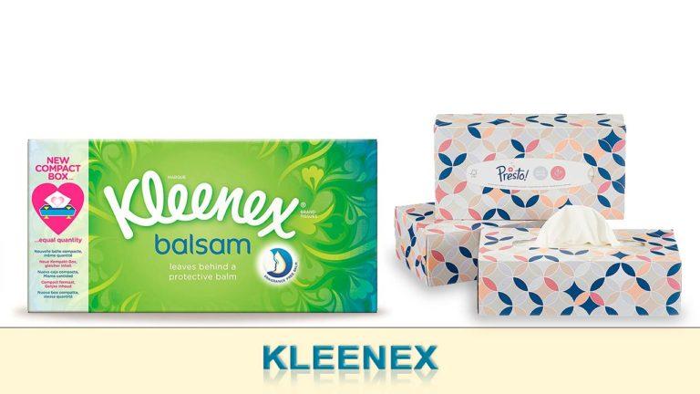 Paquete de kleenex y caja