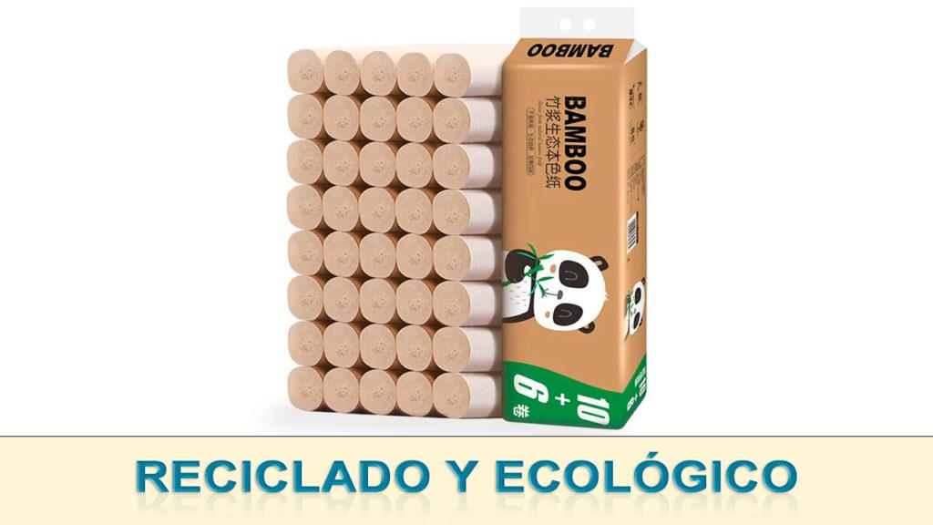 Papel higiénico reciclado y ecológico