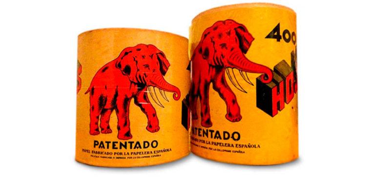 Dos rollos de papel El Elefante rojo