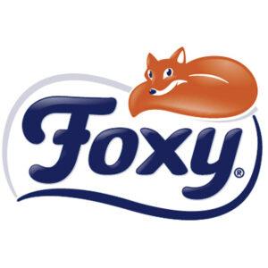 Logo papel higiénico Foxy